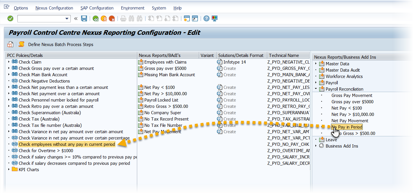 Drag-and-Drop configurable reports
